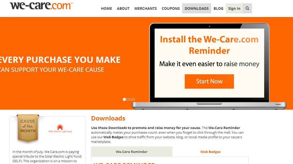 We-care.com snapshot