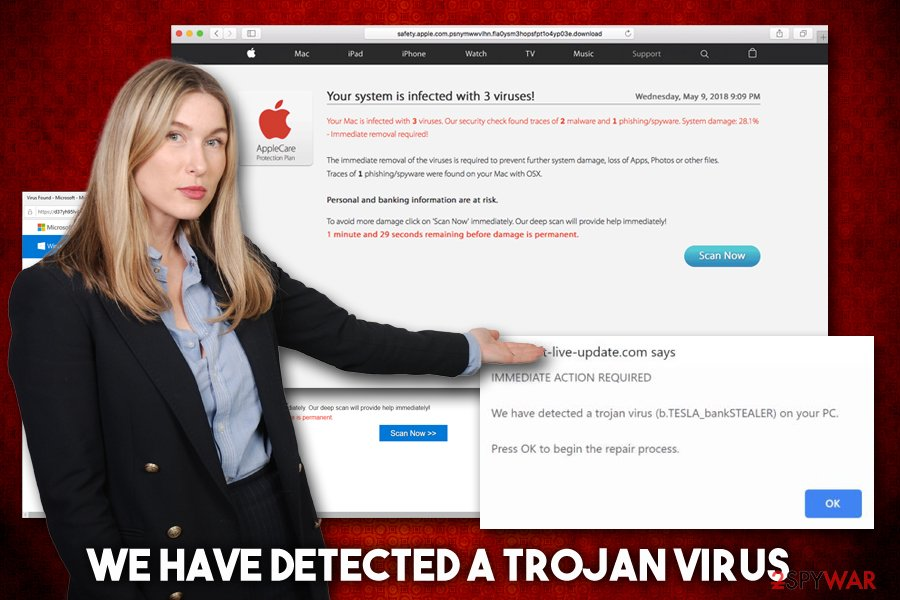We have detected a Trojan virus scam