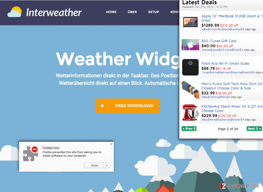 ads by WeatherWidget adware are annoying