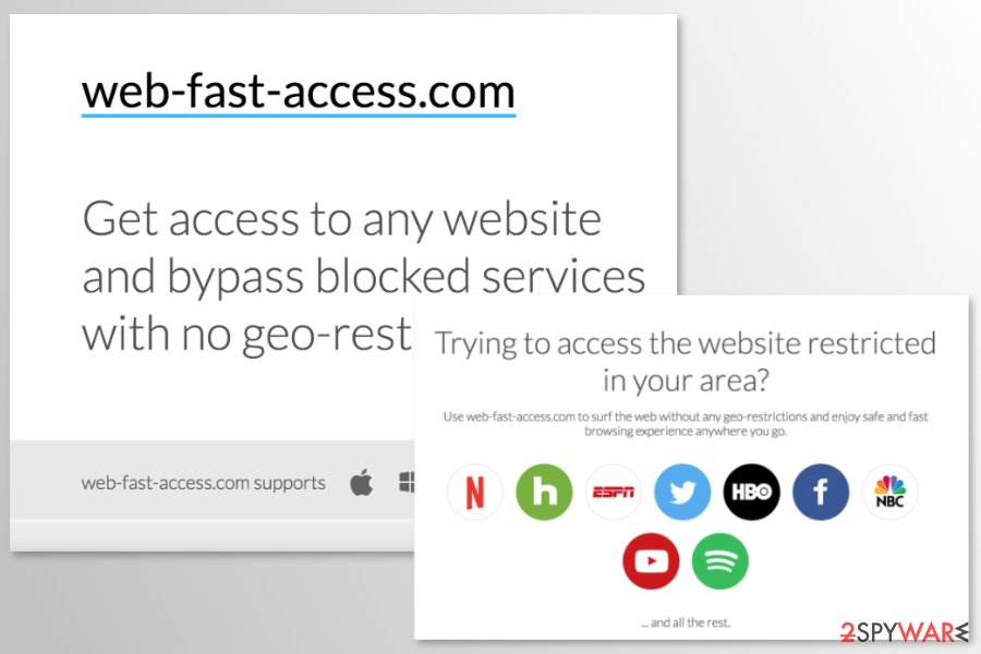 The official site of Web-fast-access.com