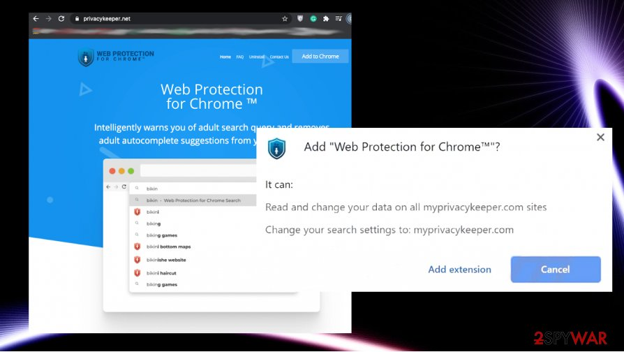 Web Protection for Chrome Search