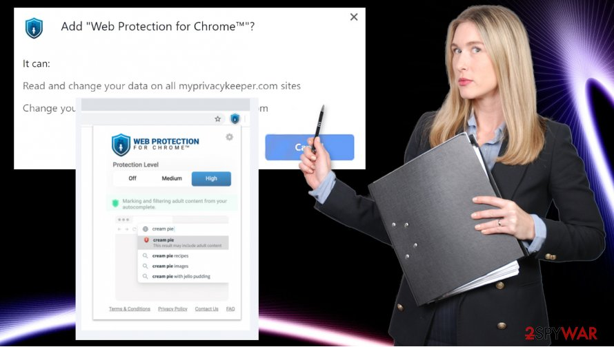 Web Protection for Chrome Search virus