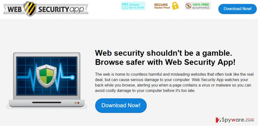 Web Security App ads