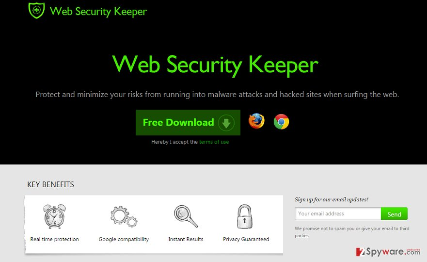 Web Security Keeper ads