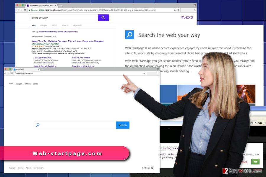 The image of Web-startpage.com virus