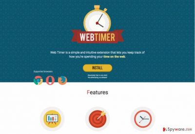 An image of Web Timer official website