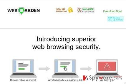 Web Warden adware snapshot