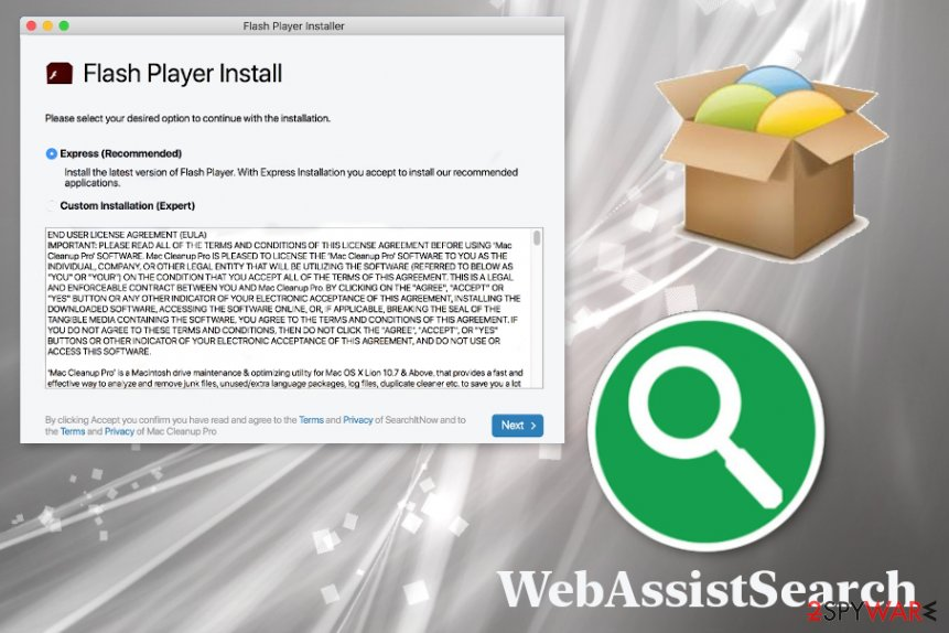 WebAssistSearch virus