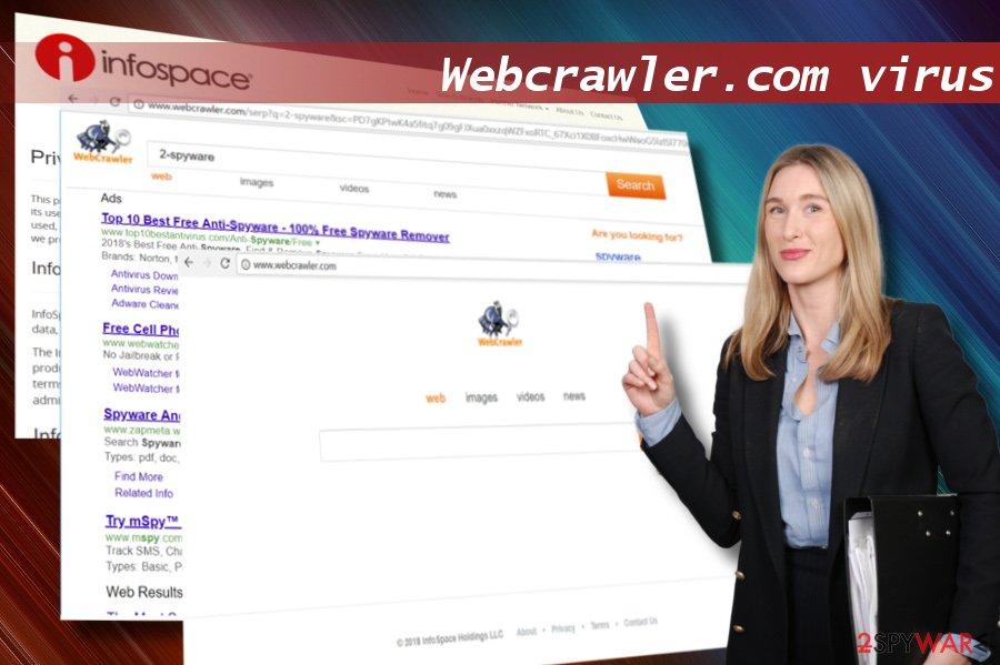 Showing Webcrawler.com hijack