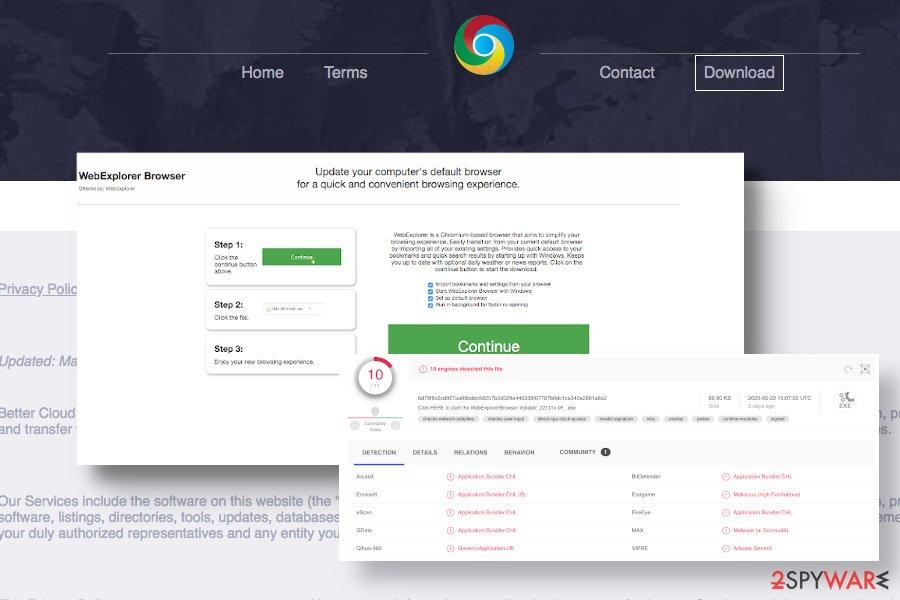WebExplorer removal
