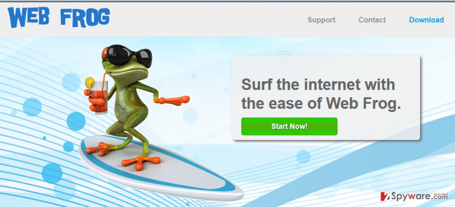 Web Frog Deals and Web Frog Ads snapshot
