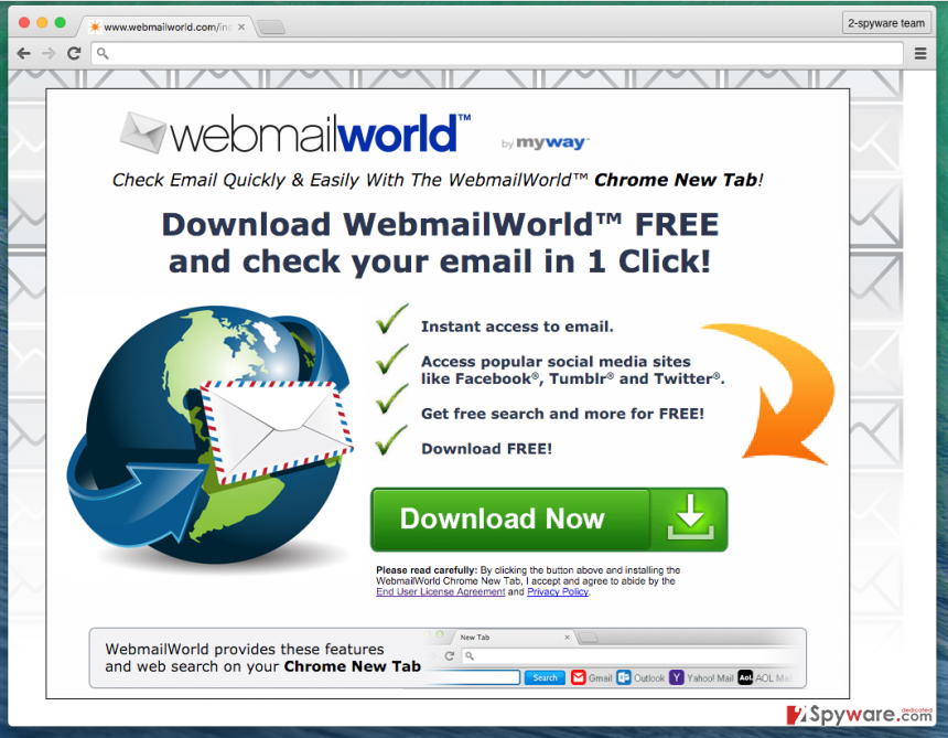 WebmailWorld Toolbar official page