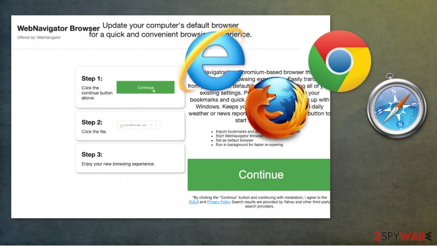 WebNavigatorBrowser hijacker