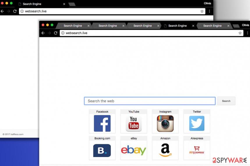 Websearch.live hijack