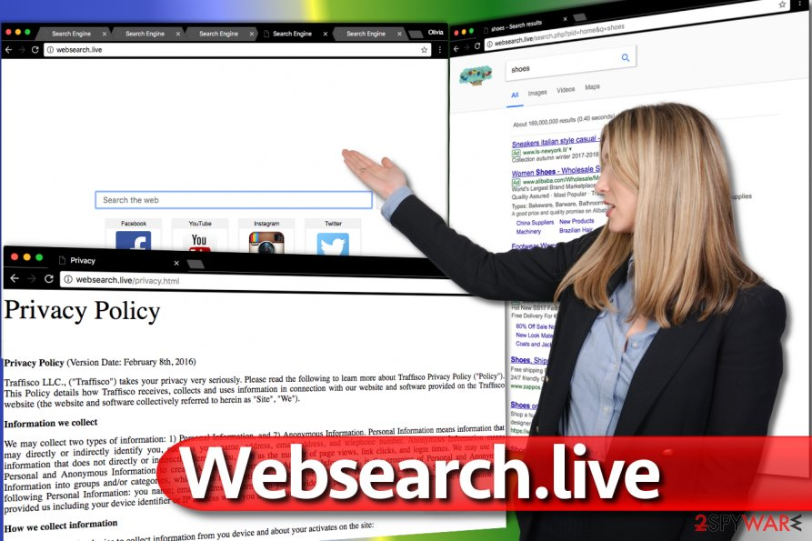 Websearch.live redirect virus