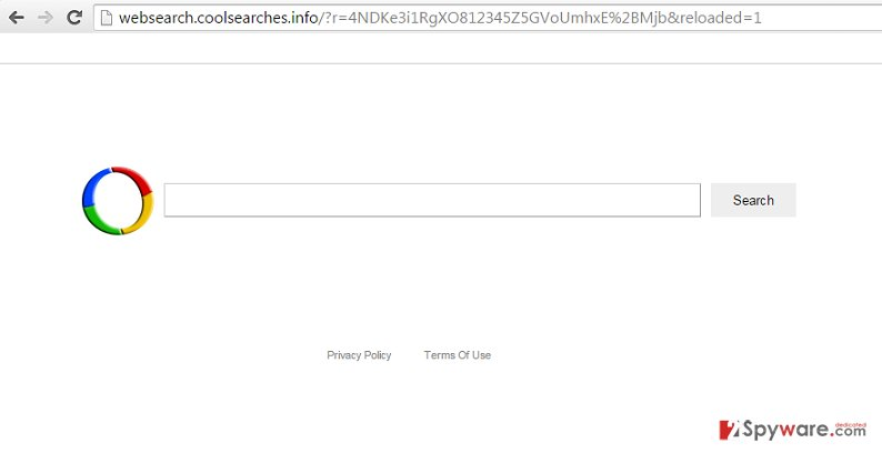 Websearch.coolsearches.info hijack