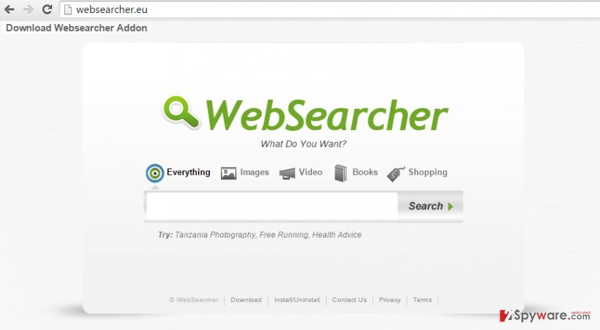 WebSearcher.eu redirect