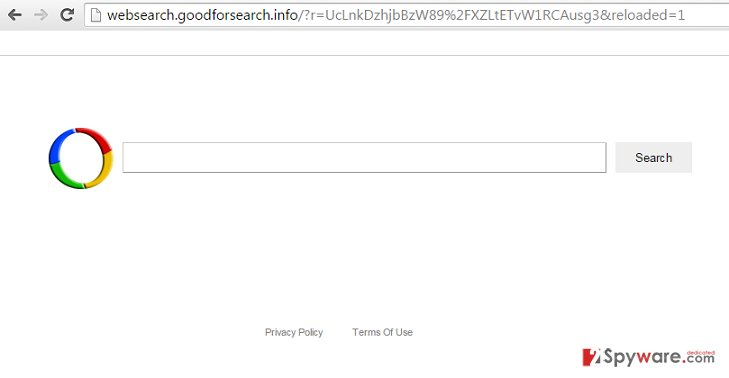 Websearch.goodforsearch.info search