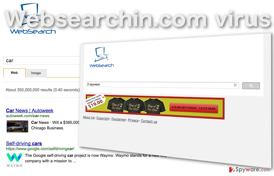 Image of the Websearchin.com virus
