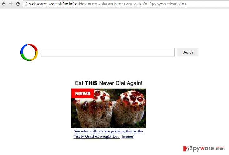 Websearch.searchisfun.info hijack