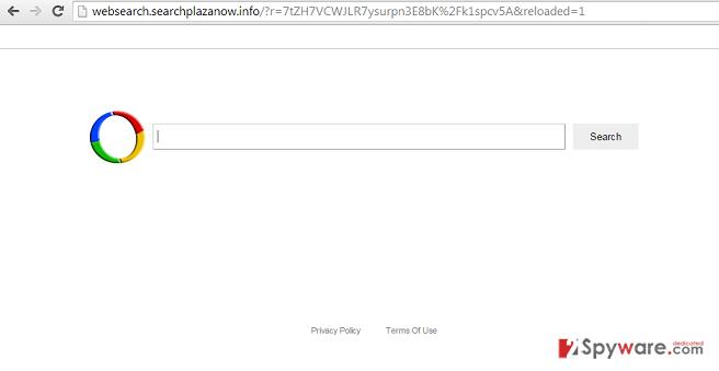 Websearch.searchplazanow.info virus snapshot