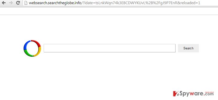 websearch.searchtheglobe.info virus snapshot