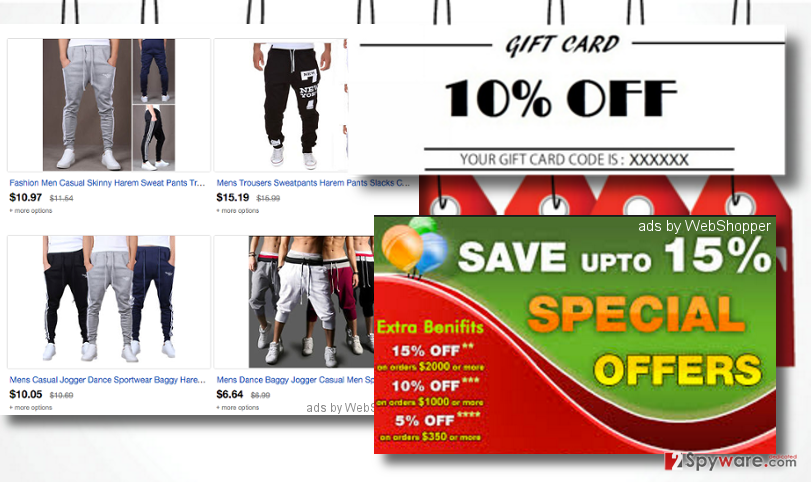 examples of  ads by WebShopper