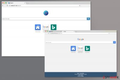 Examples of Websrch.net homepage