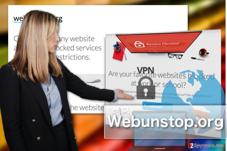 Image of Webunstop.org adware virus