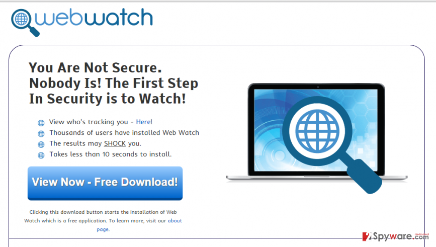Ads by Web Watch snapshot