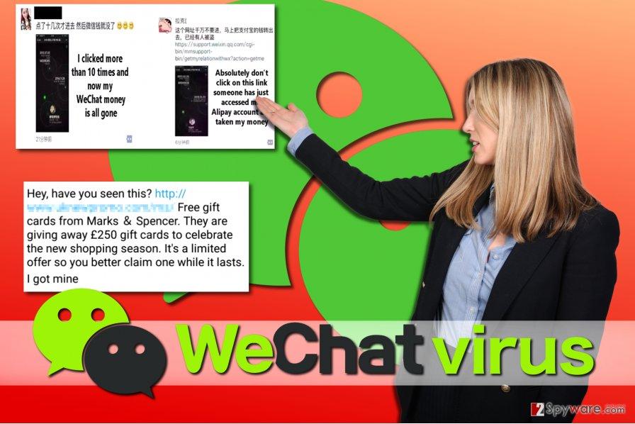 WeChat virus examples