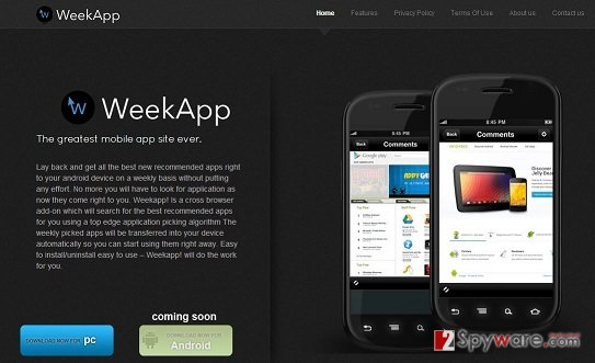 WeekApp adware snapshot