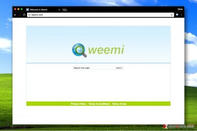 Screenhot of Weemi.com search tool