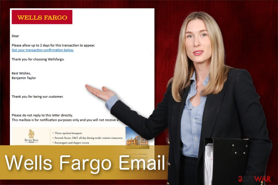 Wells Fargo Email scam illustration