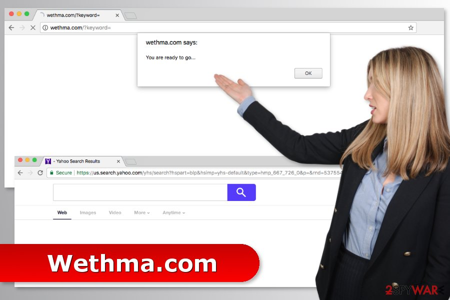 The picture of Wethma.com virus