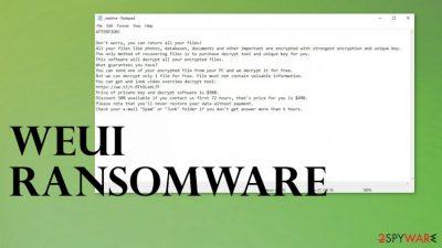 Weui ransomware