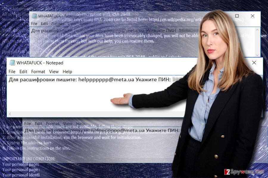 The picture illustrating Whatafuck virus
