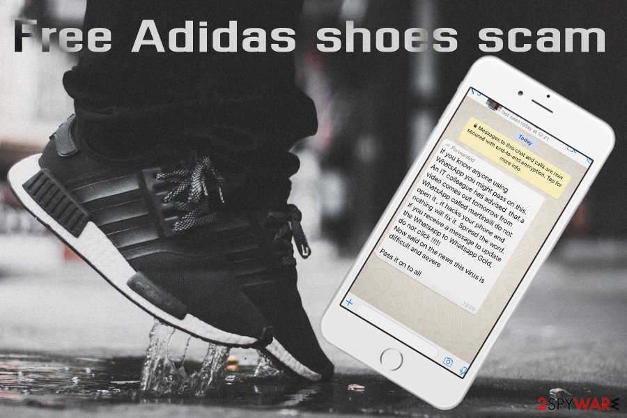 Free Adidas shoes scam