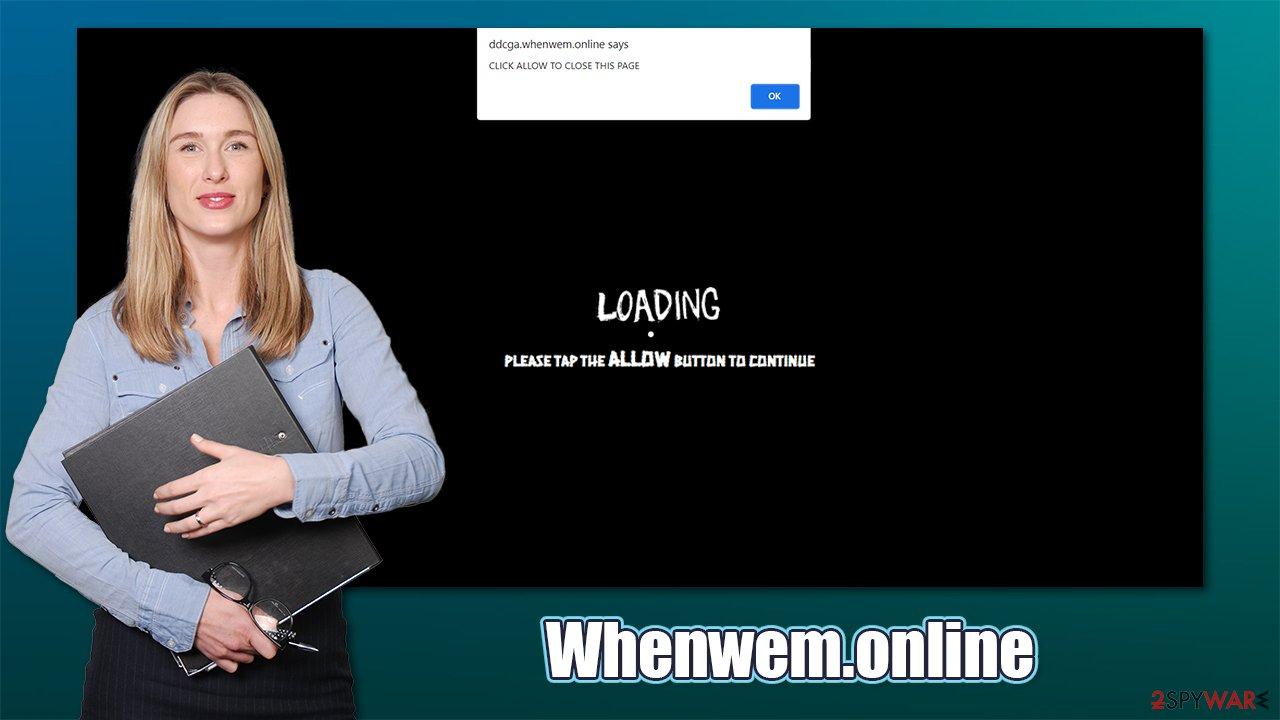 Whenwem.online pop-ups