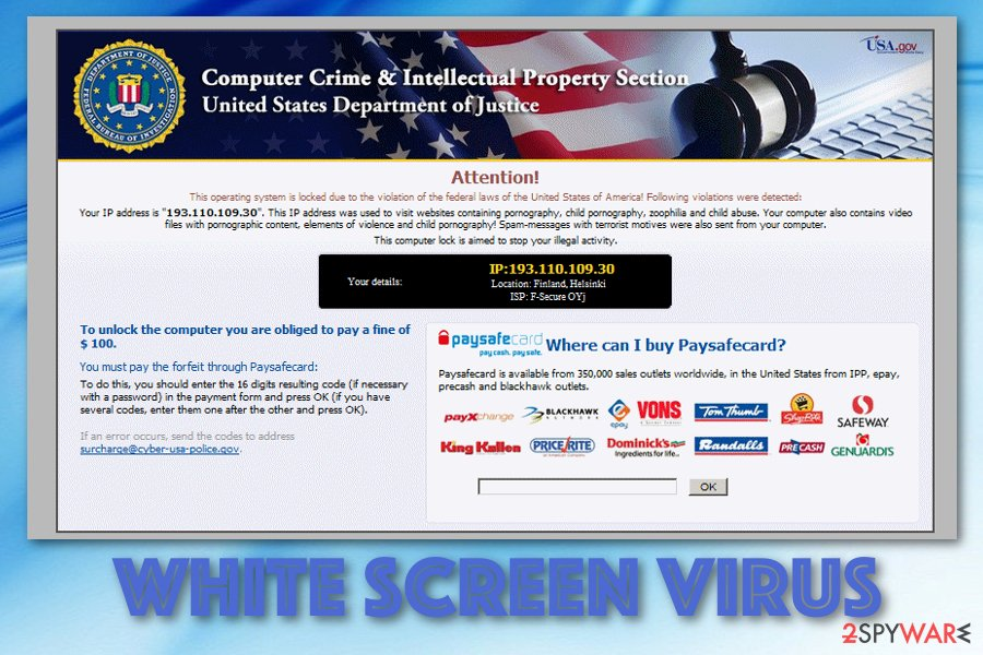 White Screen malware