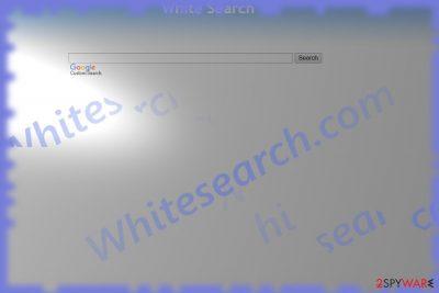 The image displaying WhiteSearch hijackeer