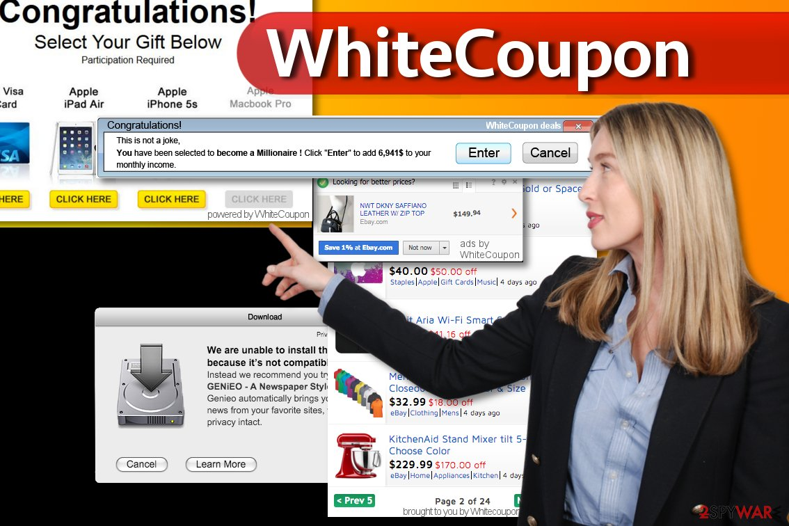 Examples of WhiteCoupon ads