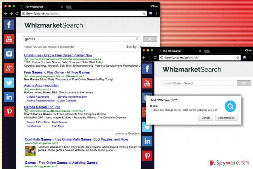 WhizMarket Search hijack