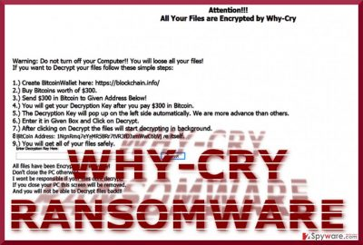 The picture showing Why-Cry ransom note