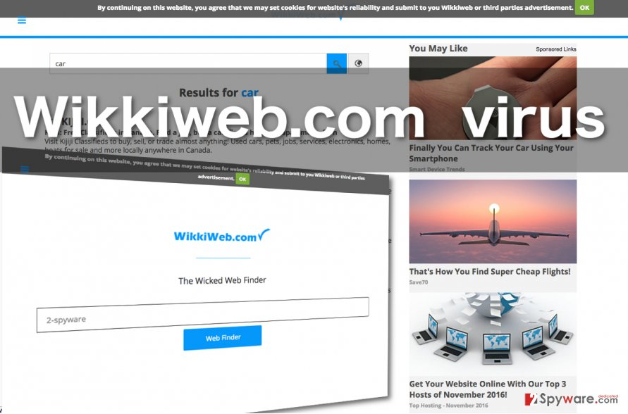 Screenshot of the Wikkyweb.com site