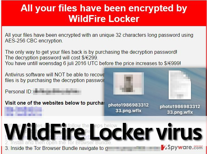 WildFire Locker encrypts files