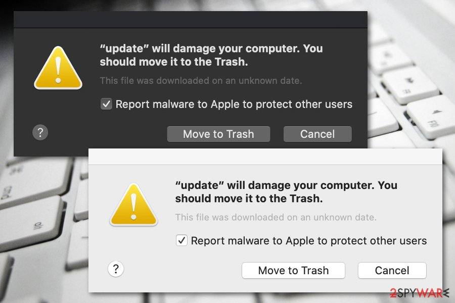 Will damage your computer. You should move it to the Trash note