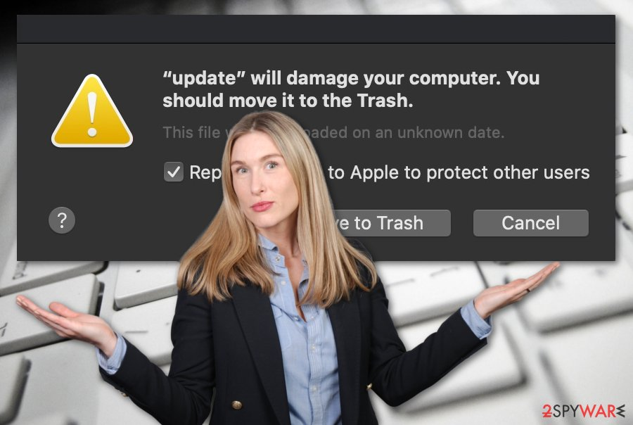 Will damage your computer. You should move it to the Trash virus