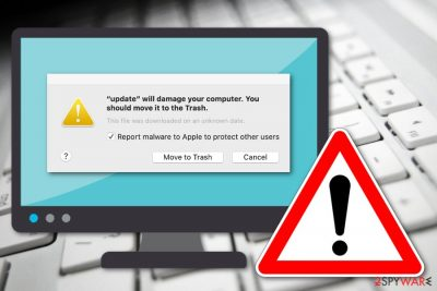 Will damage your computer. You should move it to the Trash message