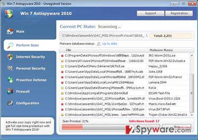 Win 7 Antispyware 2010 snapshot